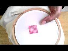 Basic Embroidery Net Stitch - YouTube