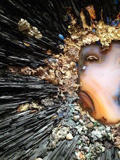 "Beatrice Serre 2015 ""Little Big Bang"" Wall Sculpture Salon Des Artisans, Jean Louis Deniot, Grey Marble Wallpaper, 7 Arts, Collaborative Art Projects, Bonsai Art, Mosaic Wall Art, Big Bang, Art And Craft"