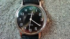 Pratina Swiss men watch NOS Golden dial with black markers and golden hands  Dimensions in mm : 37 /41/10 mm    Second hand central    Cut Crystal    17