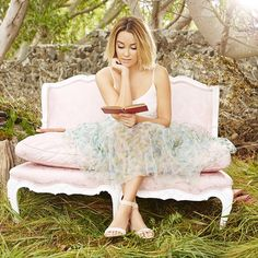 """""""we hope your tuesday is as dreamy as this gorgeous scene from @laurenconrad's photoshoot for the @lclaurenconrad cinderella collection ✨…"""""""