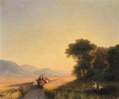 Ivan Aivazovsky -  Daybreak Over The Cornfields