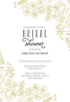 Elegant Flowers Free Bridal Shower Invitation Template Greetings Island
