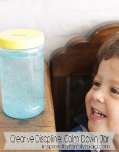 Creative discipline idea: Calm Down Jar - see for yourself how it worked (pictures of it in action)
