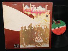 LED ZEPPELIN II / 2 Atlantic Label Original Gatefold Record LP + Inner SD-19127