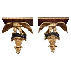 Antique and Vintage Wall Brackets - 618 For Sale at Wall Shelf Brackets, Wooden Brackets, Wall Shelves, Furniture Projects, Cool Furniture, Wall Hanger, Hangers, Vintage Walls, Eagle