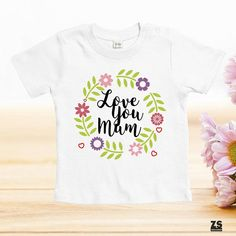 Camisetas día de la madre, Love you mum, Camisetas Día de la Madre, regalo día de la madre, regalo para madres, regalo mamá primeriza