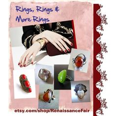 Rings, rings and more rings by renaissance-fair on Polyvore featuring Rothko