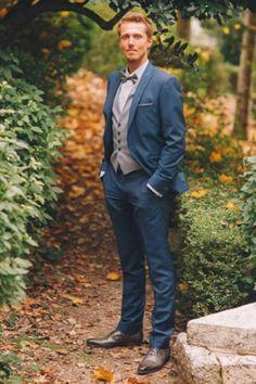 Jeremy en costume 3 pièces de L Atelier 5 pour son mariage.  wedding 7252234e40d