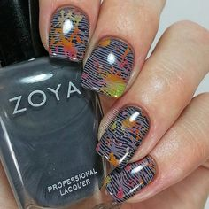 What we can say about this mani... GORGEOUS!!!! 😍😍 . #Repost @ohlerin: I used several images from @linanailartsupplies #MakeYourMark01 for this mani.  I really love the images on this plate and, like all the others, it stamped beautifully.  The base for this mani is @zoyanailpolish Geneviev, the lines are stamped with @pueencosmetics Tropical Dusk, and the splatters are stamped with @bundlemonster Eldorado, Rose Garden, Teepee Tipping, and Gobi You.  If you're interested in checking out…