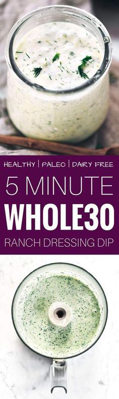 creamy whole30 ranch;