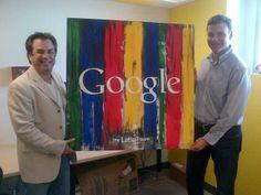 ¡A tono con Google!  Matías junto a Mark Lopez, Head of US Hispanic Audience at Google, con el presente de Latin3.