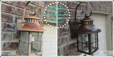 Refinished Light Fixtures Before and After