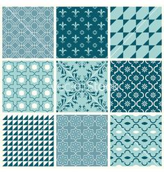 Seamless backgrounds collection - vintage tile vector  by woodhouse84 on VectorStock®