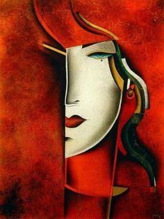 art lady in red - Ferdinand Pire. Ferdinand, Pablo Picasso, Illustrations, Illustration Art, Art Nouveau, Open Art, Sculpture, Face Art, Art World