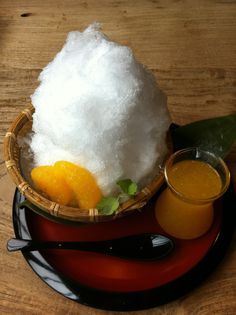 Kakigouri (shaved ice) - very popular during those hot, humid Japanese summers