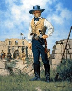 """James """"Jim"""" Bowie (April 1796 – March a American… Mexican Army, Mexican American War, American History, James Jim, James Bowie, Westerns, Texas Revolution, Cowboys And Indians, Texas History"""