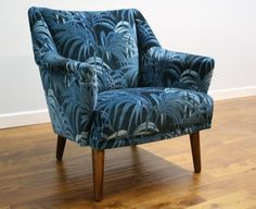Vintage chair reupholstered in House of Hackney fabric by Linney Hughes for Vintageretro.co.uk.