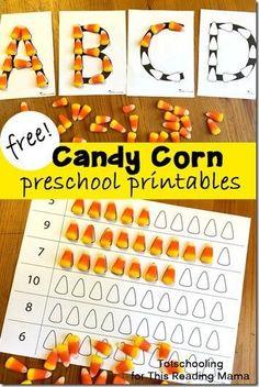 FREE Candy Corn Alphabet Mats