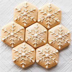 Make your sugar cookies stand out with a delicate, frosting snowflake: http://www.bhg.com/christmas/cookies/christmas-sugar-cookies/?socsrc=bhgpin101914almondsourcreamsugarcookies&page=3