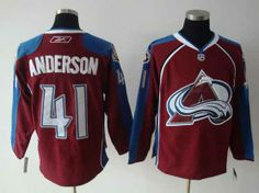 NHL COLORADO AVALANCHE #41 ANDERSON RED/BLUE JERSEY(DT)