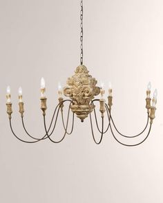 Shop Wood Carved Chandelier from Regina Andrew Design at Horchow, where you'll find new lower shipping on hundreds of home furnishings and gifts. Andrew Wood, Candle Chandelier, Chandeliers, Gold Candles, Gold Light, Gold Wood, Wood Design, Home Lighting, Light Fixtures