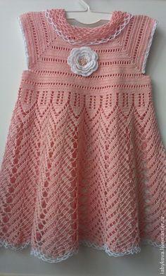 vestido de bebe en crochet, crochet dress baby