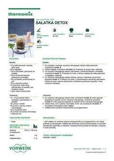 Salatka detox Food Website, Detox Recipes, Make It Simple, Author, Health, Salads, How To Make, Drink, Beverage