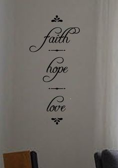 faith hope love vinyl wall art decal by designstudiosigns on Etsy, $33.00