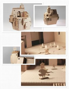 creation by Kebel Li (along with a group of other creators Barbara Yang and Angela Lee) using one sheet of 48×84 piece of cardboard constructed a kid's castle chair which also functions as a dollhouse. Found on Discover Paper. FANTASTIC!