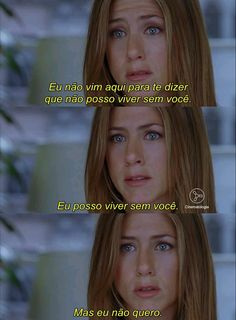 ♥Quanto Amor♥ Series Movies, Movies And Tv Shows, Marie Von Ebner Eschenbach, Jenifer Aniston, Friends Tv Show, Romantic Movies, Sad Girl, Greys Anatomy, Movie Quotes