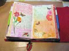 A Palette Full of Blessings // this page is a regular journal but would be lovely in a Bible