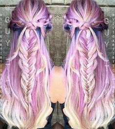 Guy Tang purple pastel dyed hair color