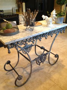 Antique French Pastry Table   Aged To Perfection   Pinterest   Country,  Shabby And Tables