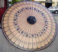 Bagan Umbrella of Myanmar Handmade Umbrella Exporter - Myanma Traditional Manufacturing