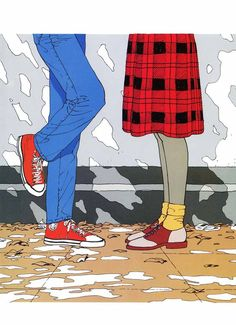 tall-short (rafe is definitely in jeans and red converses) Retro Aesthetic, Aesthetic Anime, Tumblr Art, Fanart, Kawaii, Art Graphique, Beautiful Drawings, Illustrations And Posters, Cute Illustration