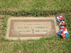 "Grave Marker- ""Fred Mertz"" Actor William Frawley I Love Lucy"