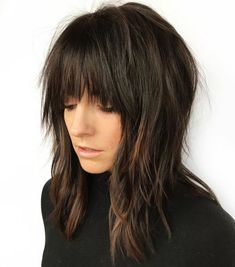 60 Best Variations of a Medium Shag Haircut for Your Distinctive Style, Frisuren, Elongated Razored Straight Shag with Bangs. Medium Shag Haircuts, Shag Hairstyles, Haircuts With Bangs, Straight Hairstyles, Haircut Medium, Hairstyle Men, Formal Hairstyles, Boy Haircuts, Beach Hairstyles