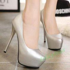 Womens Pumps Nightclub Stilettos High Heel Platform Office Prom Shoes Party Hot #hothighheelsoffices #promheelsstilettos #promshoespumps