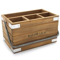 Great For A Picnic Chef Tim Love Wood Flatware Caddy: Sur La Table