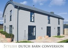 Maybe bigger windows Barn Windows, Steel Windows, Windows And Doors, Rural House, Farm House, Steel Barns, Going Dutch, Wood Cladding, Barn Conversions
