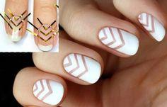 Diseños de uñas fáciles de hacer, Diseños fáciles con cintas lineas. Clic Follow, Join to CLUB! #manicuras #unhas #uñassencillas