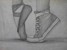 Imagen de ballet, drawing, and converse