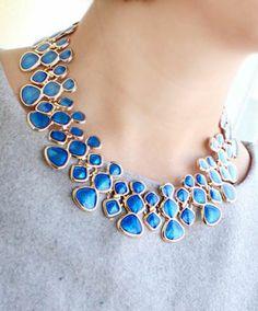 Blue Geometric Necklace