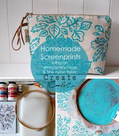 Tutorial para hacer un pequeño taller doméstic de serigrafía. http://cooandcothink.blogspot.com.es/2013/07/homemade-screenprints.html