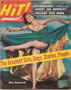 Rita Hayworth on the cover of Hit! Annual, Summer 1956, USA.