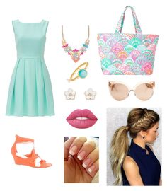 """""""Untitled #22"""" by mira-163 ❤ liked on Polyvore featuring Kate Spade, Loeffler Randall, Lilly Pulitzer, Linda Farrow, Lime Crime and Accessorize"""