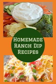Easy Homemade Ranch Dip Recipes - try one of these ranch dip recipe ideas at home - crowd pleasers!