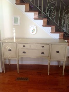 Country Gray Vintage Sideboard Buffet
