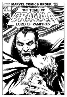 "tompalmerillustration: "" Tomb of Dracula #48 cover. Marvel Comics, 1976. Pencils by Gene Colan. Inks by Tom Palmer. """