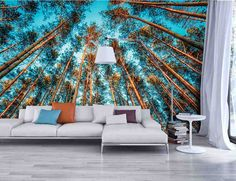 Papier peint trompe l'oeil – introduisez la nature dans votre intérieur